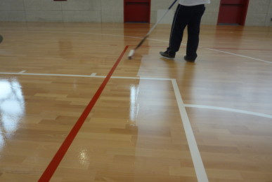 Treatment skating is nothing but a clear varnish applied to floors after a special sanding