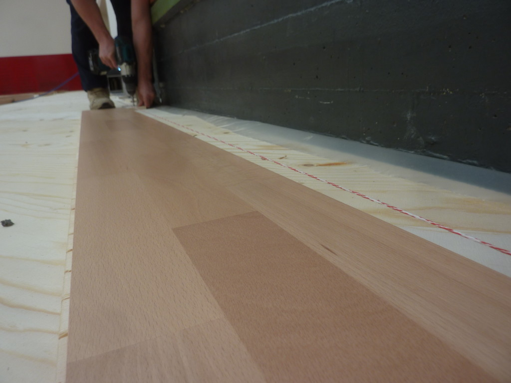 A close-up of sports parquet wooden beech posed to Gordona