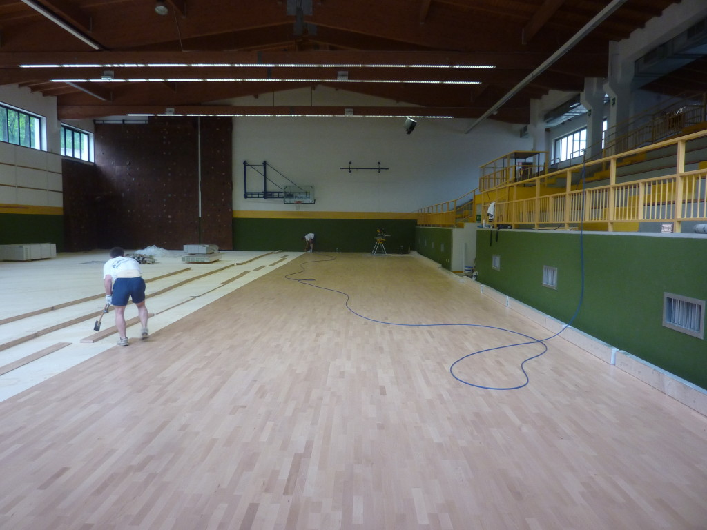 Engineers Dalla Riva Sportfloors have installed a sport parquet of 680 square meters approved by Fiba