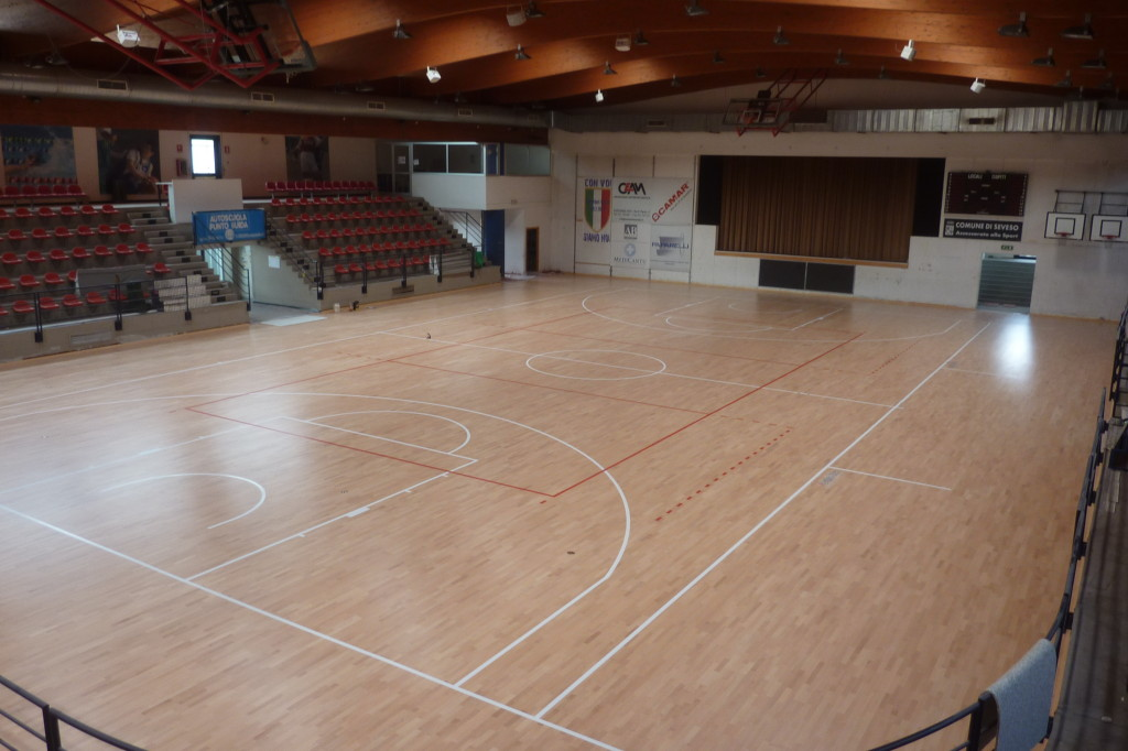 The sports hall of Seveso is mainly used by highly decorated team Briantea 84 wheelchair basketball