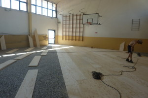 Sports Flooring: riconversion from synthetic to wood