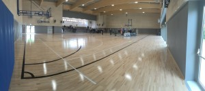 Dalla Riva Sportfloors with special devices, has been able to eliminate moisture problems arising from the gym floor