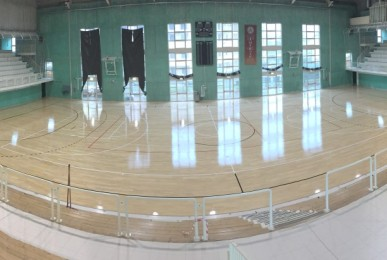 A beautiful image for the total completion of the work in the sports hall of Este