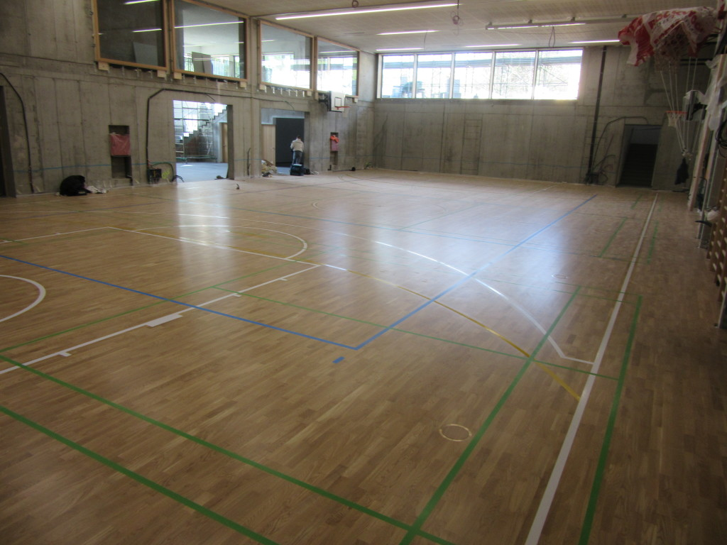Another sports floor Compact 6 installed by Dalla Riva Sportfloors in Bressanone, on the border with Austria