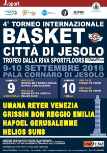 Dalla Riva Sportfloors Trophy Jesolo Basketball Tournament 2016