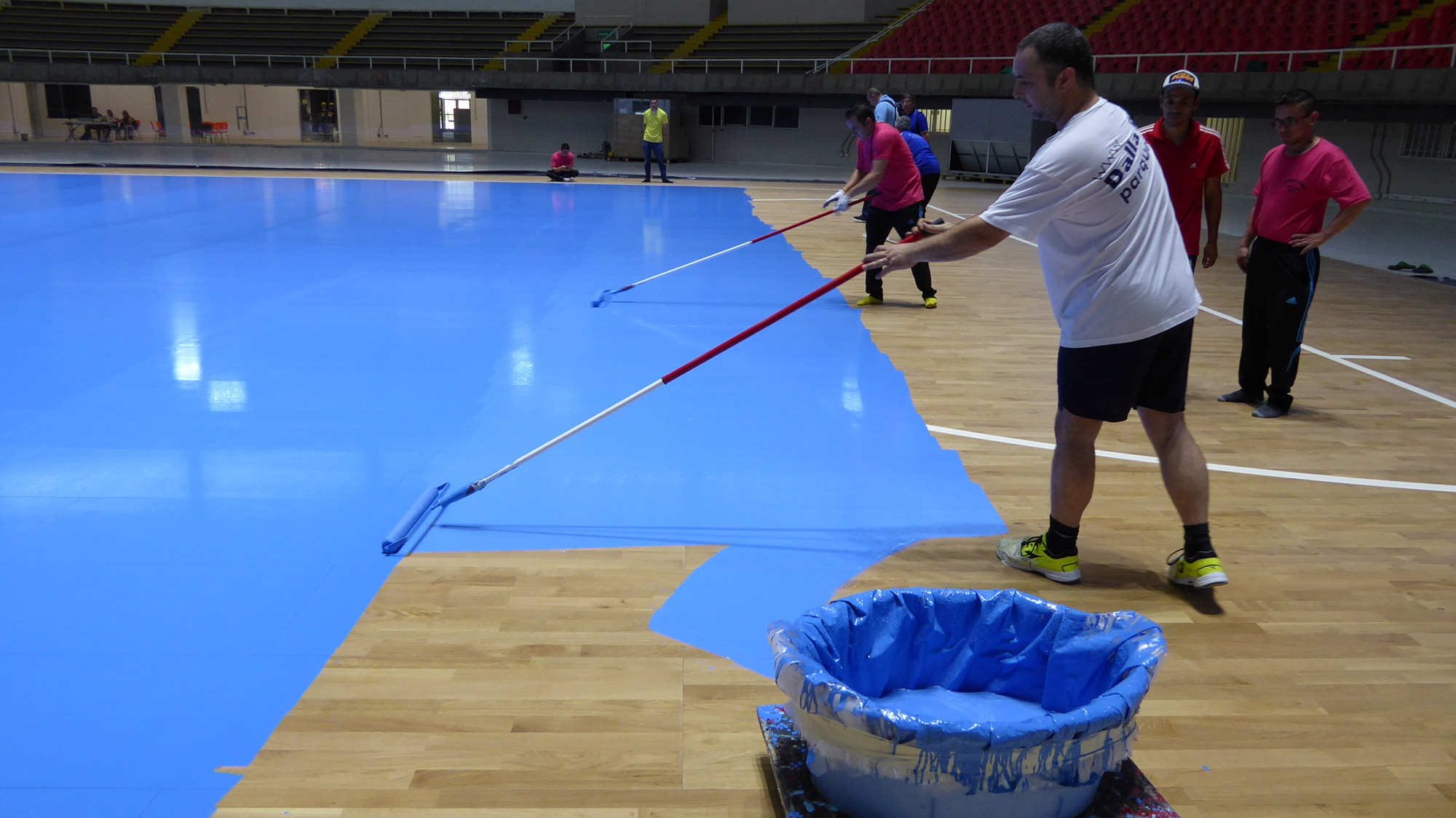FIFA Futsal World Cup in Colombia with sports floor parquet Dalla Riva Italy