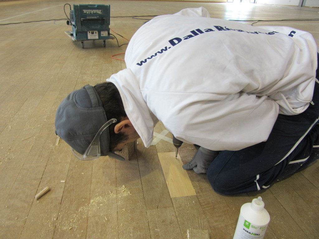 The attention to detail during the maintenance work performed by Dalla Riva Sportfloors
