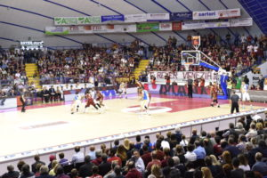 A stage playing on sports parquet Dalla Riva Sportfloors at palasport Taliercio of Venice